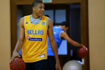 Giannis Trains with Greek National Team