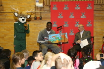 Johnny O'Bryant Reads at Burbank Elementary
