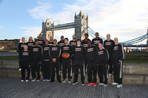 Bucks Take Team Photo in front of Tower Bridge