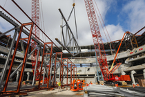 First Long Span Roof Truss Installed At New Arena