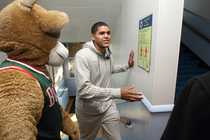 Tobias Harris and Bango Surprise Students - 1