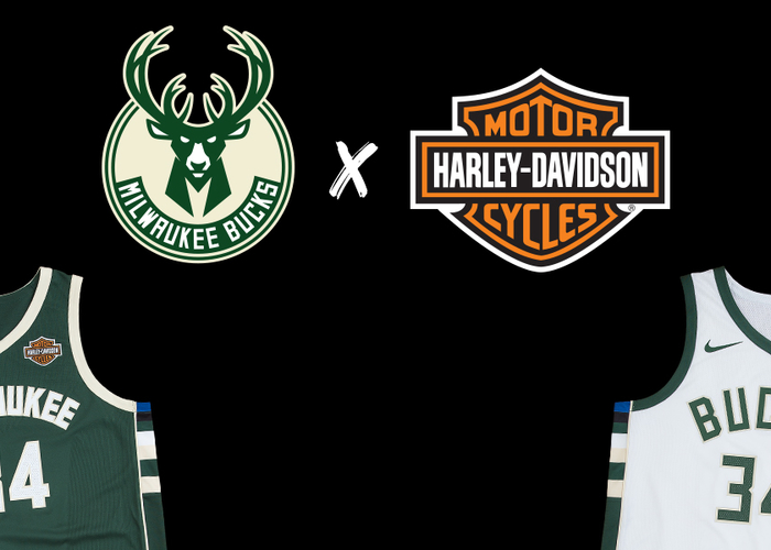 Milwaukee Bucks and Harley-Davidson Roll Full Throttle Into NBA Season with Jersey  Patch Sponsorship  fac12a702