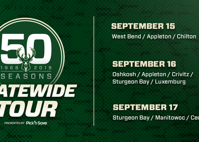 Milwaukee Bucks 50th Anniversary Statewide Tour Presented By Pick
