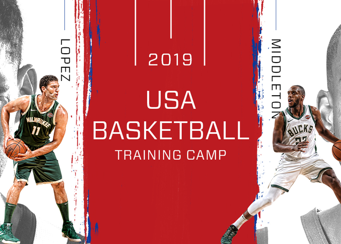 Brook Lopez and Khris Middleton Selected To Attend 2019 USA Basketball Men's National Team Training Camp