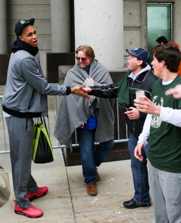 John Henson Surprises Fans With Burritos
