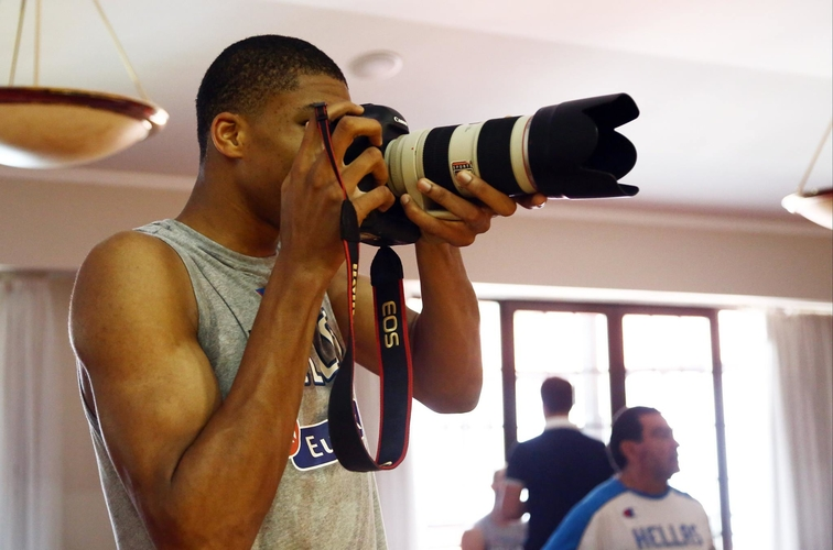 Giannis Steals the Camera