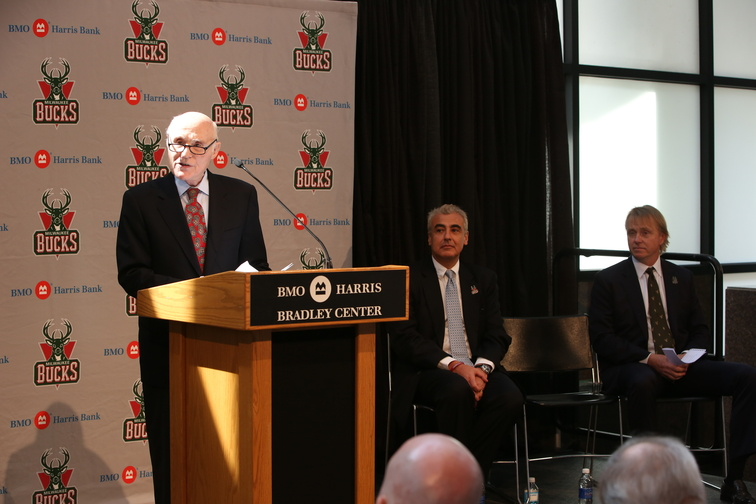 Milwaukee Bucks President and Owner Herb Kohl Introduces New Team Ownership