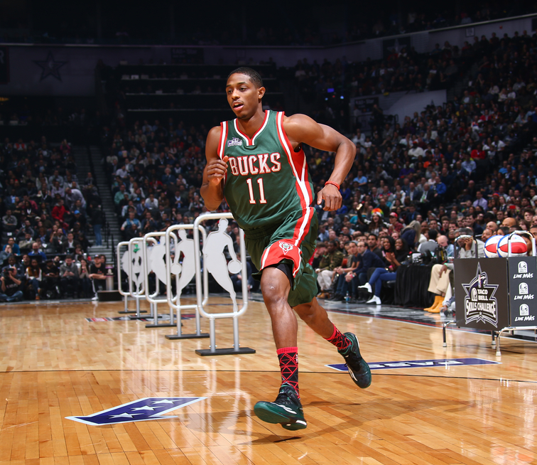 Brandon Knight in the 2015 Taco Bell Skills Competition