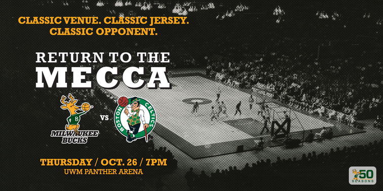 "f625168adcb Bucks To Host Boston Celtics For ""Return To The MECCA"" Game On OCT ..."
