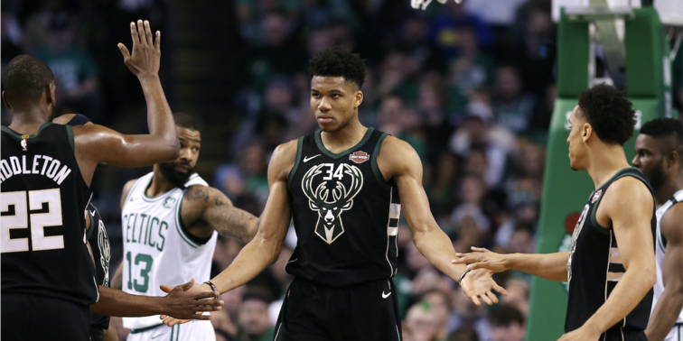 Giannis Antetokounmpo Finishes 2017-18 Regular Season With Fourth Most Popular Jersey        Bucks land at No. 6 for most popular team merchandise
