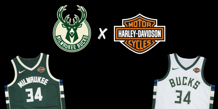 Milwaukee Bucks and Harley-Davidson Roll Full Throttle Into NBA Season with  Jersey Patch Sponsorship a5bdf8814