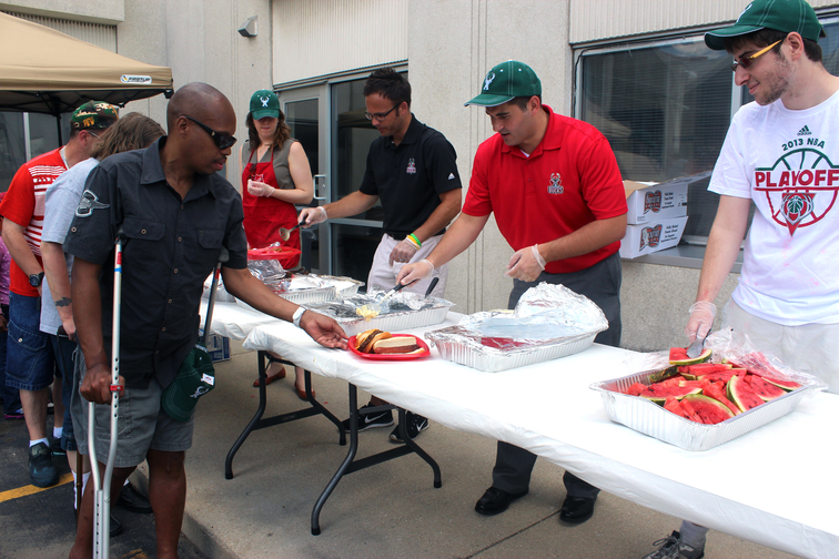 Bucks Join Salvation Army Lodge for Summer Cookout