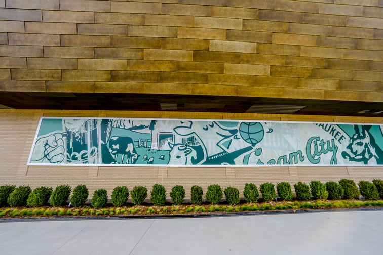 'Brick By Brick' Mural Installed on Exterior of Fiserv Forum