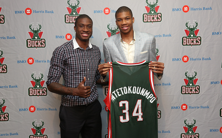Giannis Antetokounmpo and Thanasis Antetokounmpo