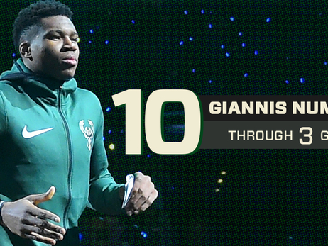 Ten Giannis Numbers After Three Games