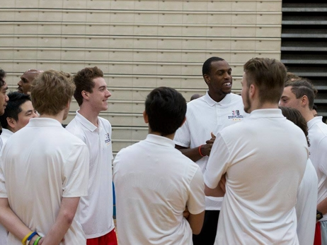 Social Rewind: Khris Middleton At Basketball Without Borders