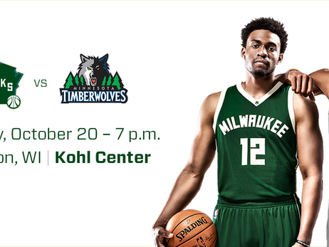 Bucks Tickets Go On Sale Tomorrow for Preseason Game in Madison