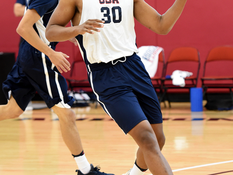 Jabari Parker and Malcolm Brogdon at USA Basketball Select Team Practice