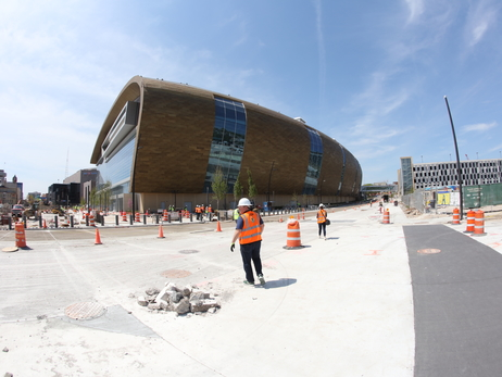 Peter Feigin Leads Media On New Bucks Arena Tour