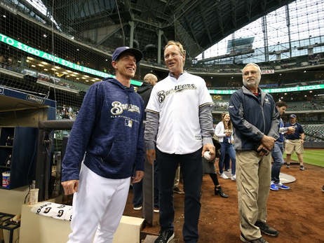Coach Budenholzer Throws First Pitch At Miller Park