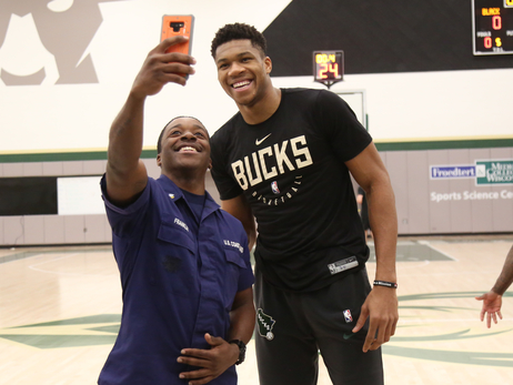 Bucks Hoops For Troops Practice