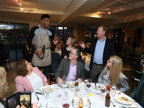 Coach Bud's Assist For Hunger Dinner