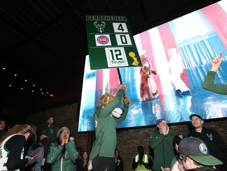 Fans Pack Fiserv Forum Plaza As Bucks Sweep Pistons