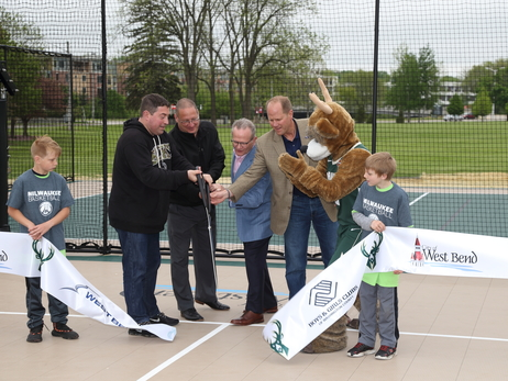 Bucks And West Bend Mutual Open New Multi-Sport Court In Regner Park