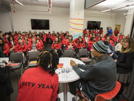Kareem Abdul-Jabbar Visits City Year Milwaukee