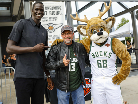 Bucks & Harley-Davidson Celebrate Partnership At Bike Night