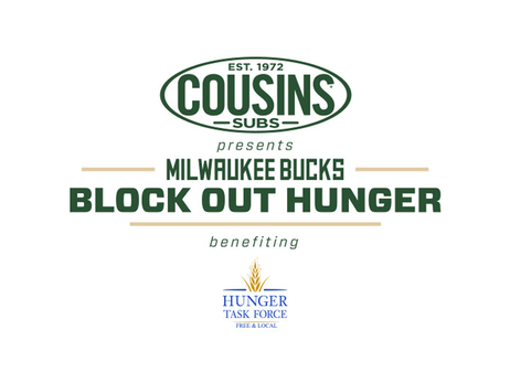 Bucks and Cousins Subs® Team Up to 'Block Out Hunger' for Third Consecutive Season