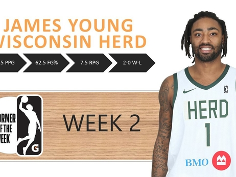 James Young Named NBA G League Performer of the Week