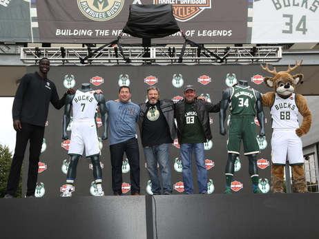 PHOTOS: Bucks Unveil Harley-Davidson Partnership