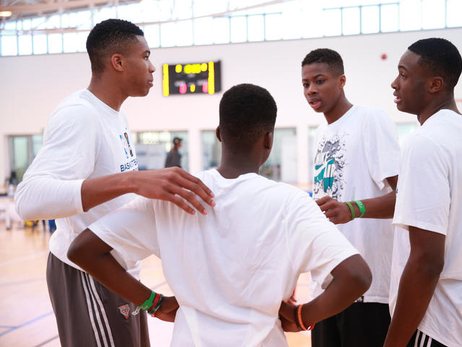 Giannis Participates in the 2015 NBA Africa Game