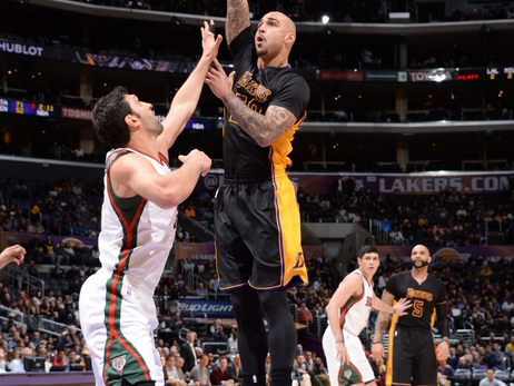 Game Action - Bucks at Lakers - 02/27/15