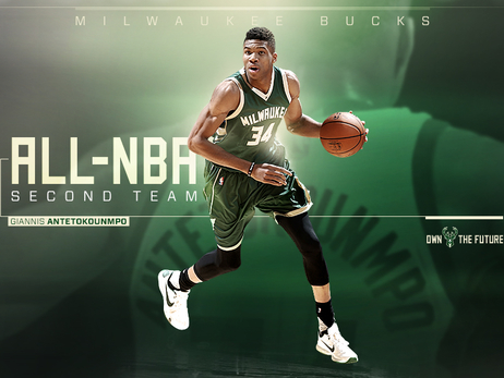 Giannis Antetokounmpo Named to All-NBA Second Team