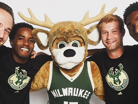 Bango and the Rim Rockers Represent Milwaukee on the NBA's Global Stage
