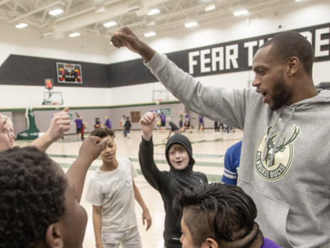 Khris Middleton Named Finalist For Season-Long NBA Cares Community Assist Award