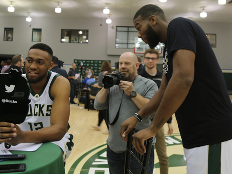 Bucks Fans Join Media Day, Get Video Answers
