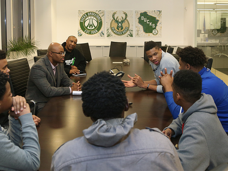 Bucks Talk Sports Careers with Kids