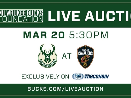 Milwaukee Bucks and Fox Sports Wisconsin to Host Second Annual Live Broadcast Auction On March 20