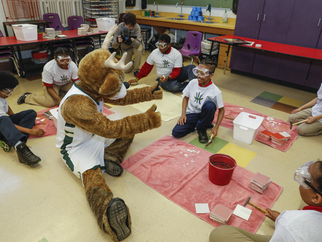 Milwaukee Bucks Art Collection with Carrie O'Malley at Milwaukee College Prep 38th Street School