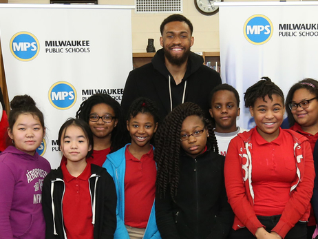 Bucks Forward Jabari Parker Named Finalist for Season-Long NBA Cares Community Assist Award