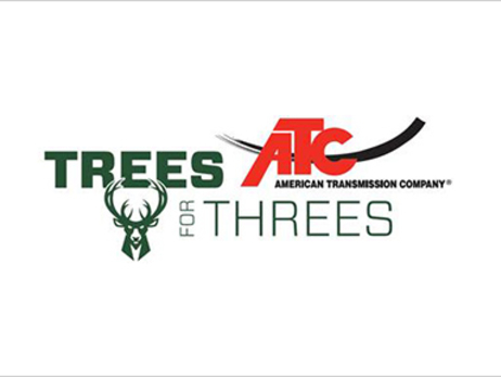Bucks and American Transmission Company Bring Back 'Trees For Threes' Initiative For 2017-18 Season