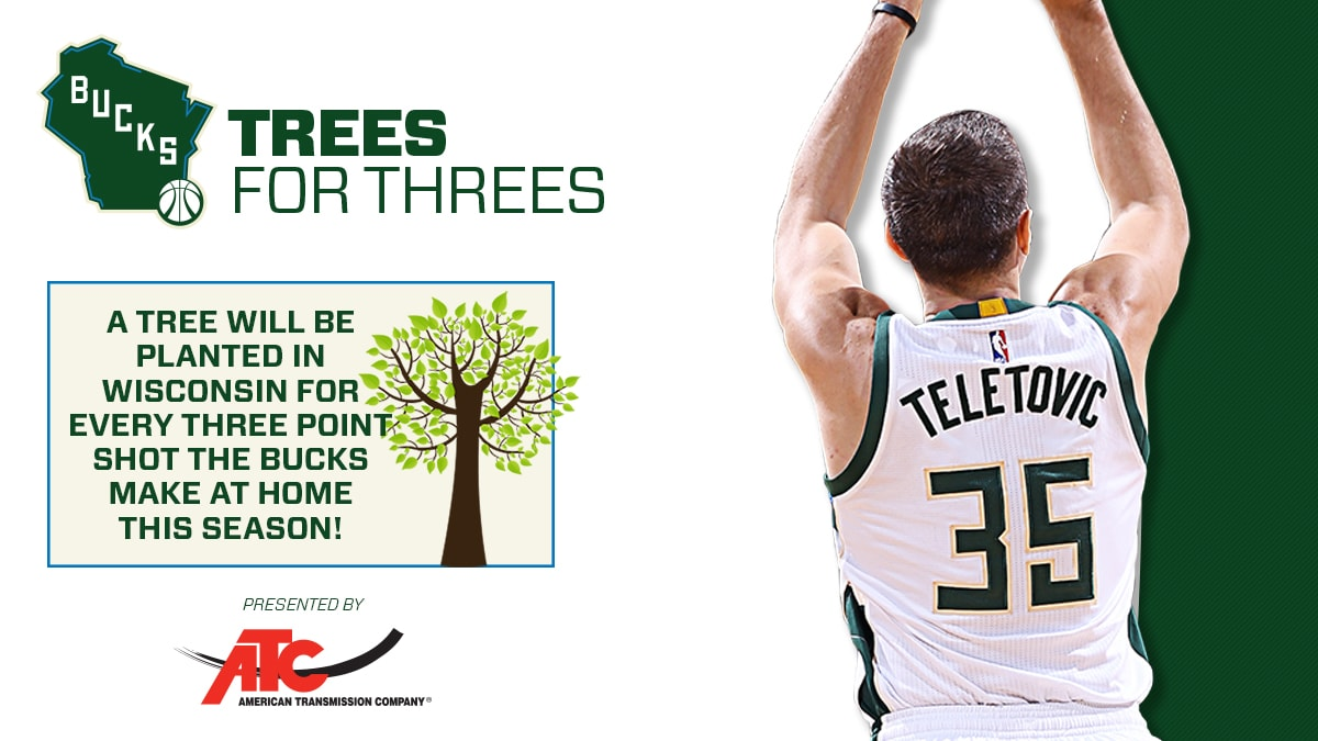 Bucks and ATC To Plant 355 Trees Across Wisconsin | Milwaukee Bucks