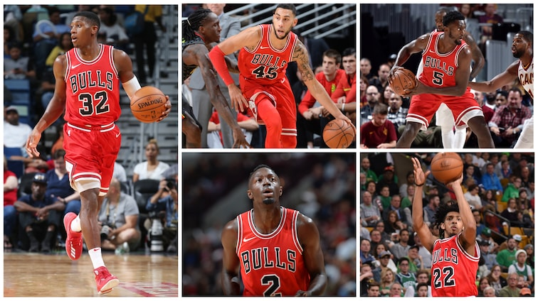 Bulls exercise options on Dunn, Valentine, Grant, Payne, and Portis