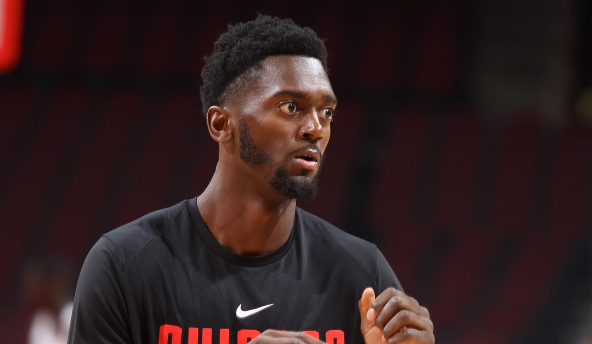 Bobby Portis at shootaround before gametime