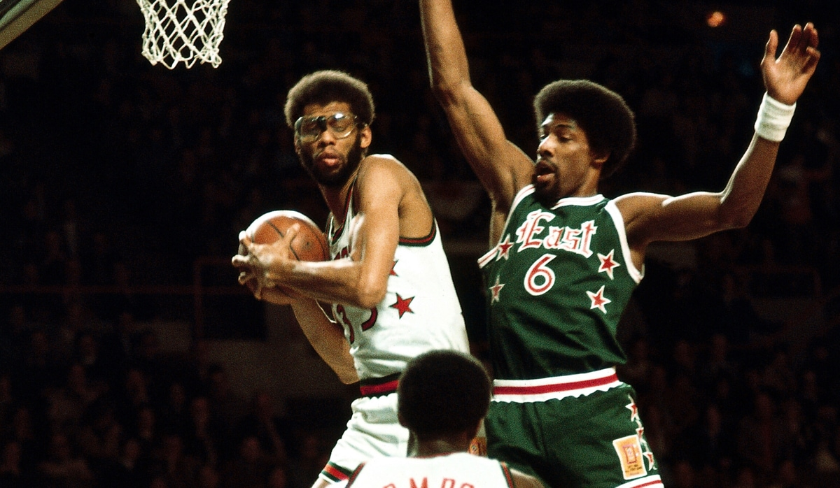 Kareem Abdul-Jabbar and Julius Irving - 1977 NBA All-Star Game