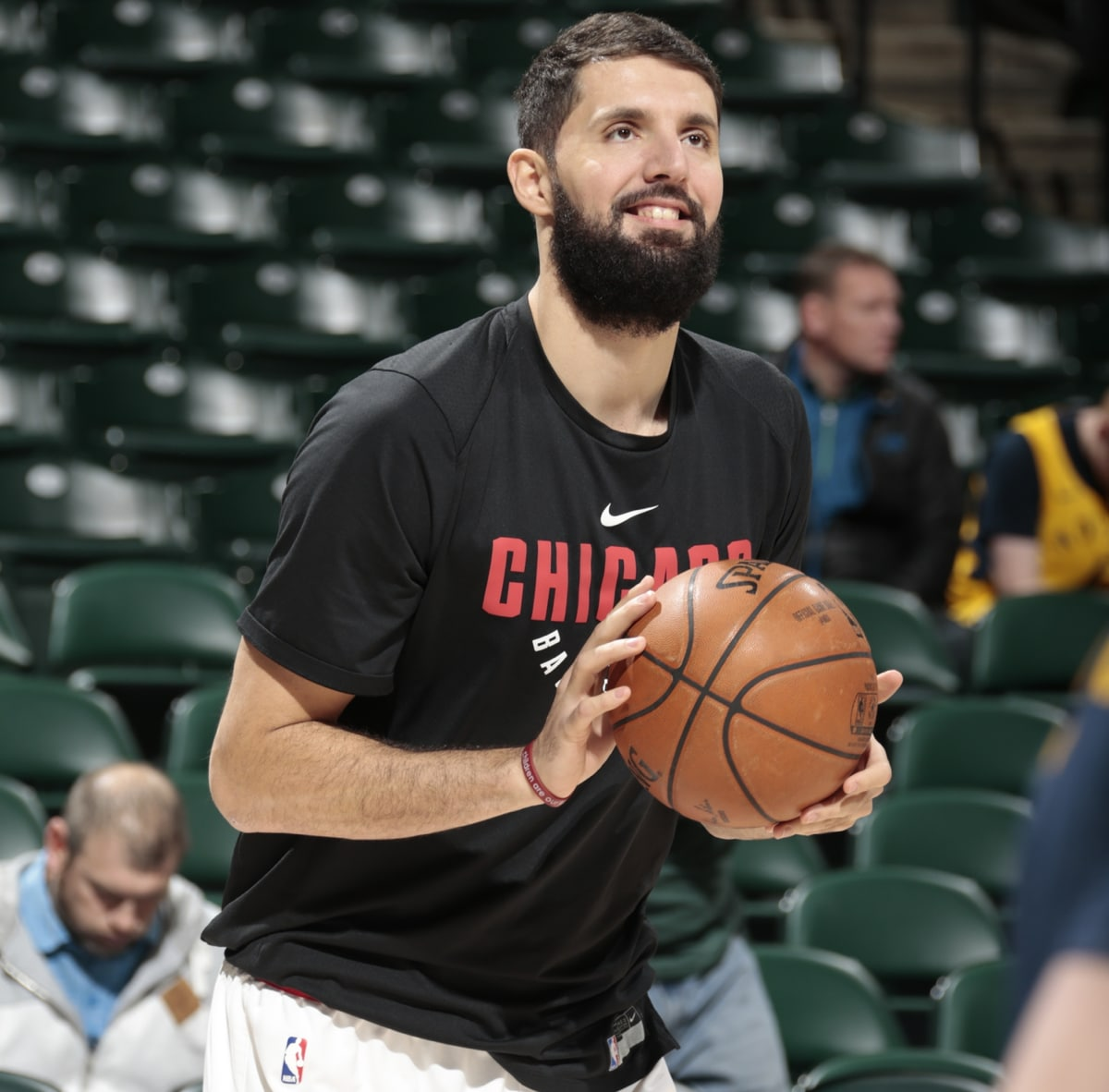 Nikola Mirotic throws up some shots prior to Saturday's game against Indiana