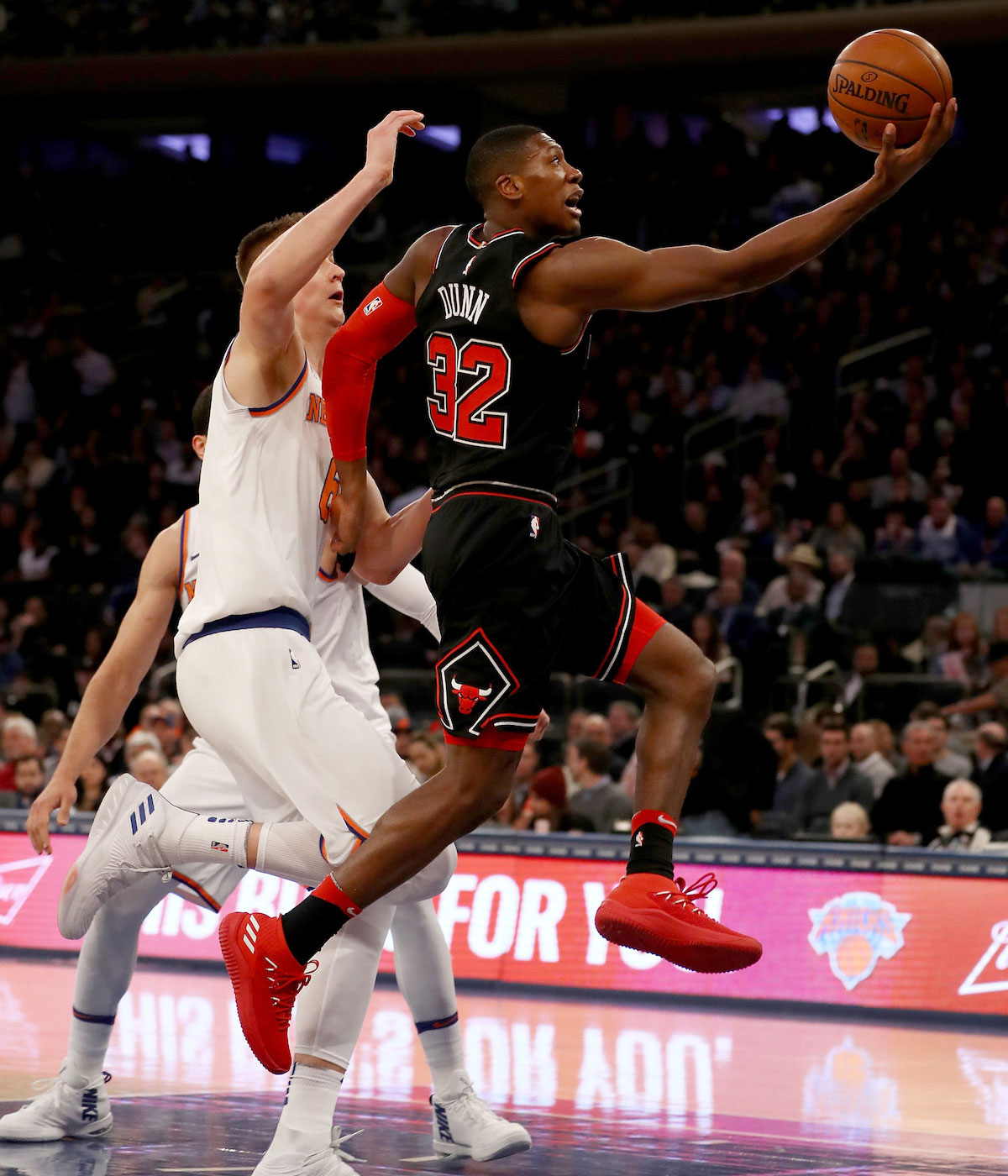 Kris Dunn moves to the basket.